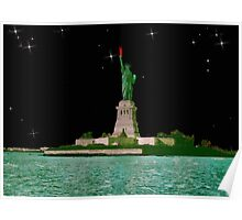 Statue of Liberty by Starlight. Poster