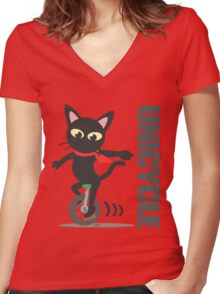 Unicycle Women's Fitted V-Neck T-Shirt