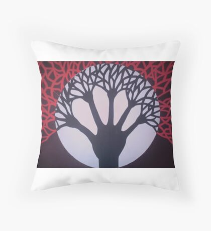 Tree of Life & Death Throw Pillow