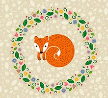 Spring Fox by Corinna Djaferis