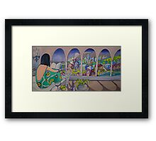 What to write in my diary tonight.... Framed Print