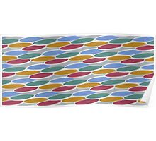 Ovals Pattern Texture Poster