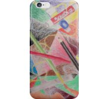 Art Supplies In Action iPhone Case/Skin