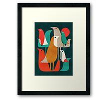Flock of birds Framed Print