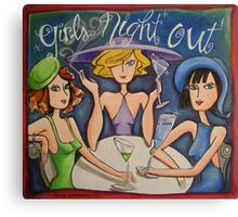 Girls Night Out Canvas Print