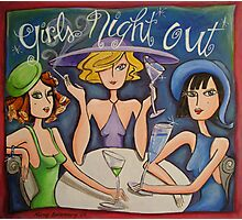 Girls Night Out Photographic Print