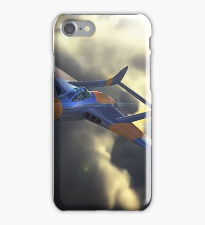 de haviiland Vampire breaking through the clouds at dusk iPhone Case/Skin