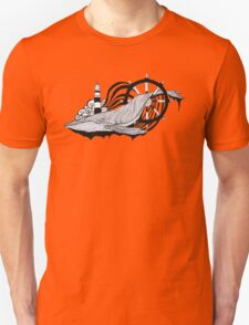 The whale in the waves Unisex T-Shirt
