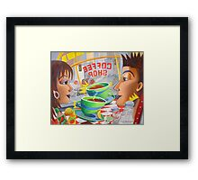 Chemistry at the Coffee Shop Framed Print