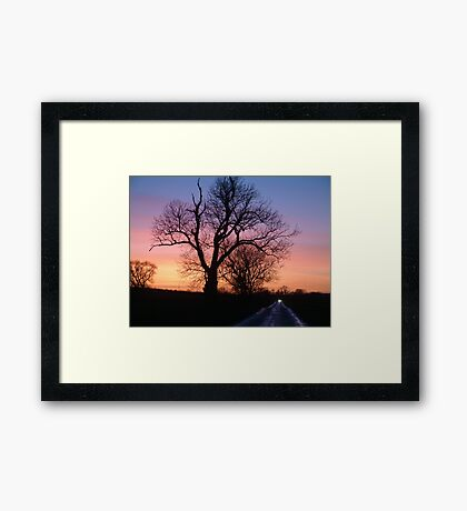 Fire in the sky 2 Framed Print