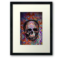 Flower Sugar Skull Framed Print