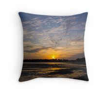 Low Tide, Barwon Heads Throw Pillow