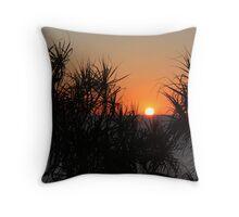 Pandanus Sunset Throw Pillow