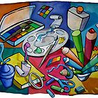 Art Table 2 by nancy salamouny