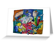 Art Table 2 Greeting Card