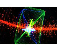 Laser Lights Photographic Print