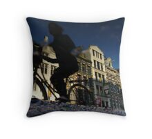 Reflections of Amsterdam - Puddle Racer Throw Pillow
