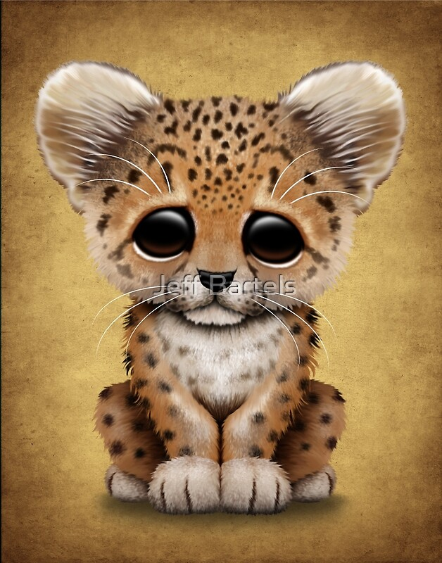 "Cute Baby Leopard Cub "" Art Prints by Jeff Bartels 