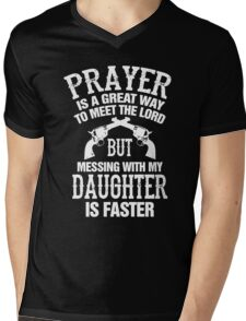 Meet The Lord Mess With My Daughter Mens Mens V-Neck T-Shirt