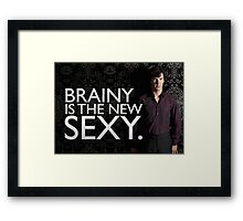The woman is right Framed Print