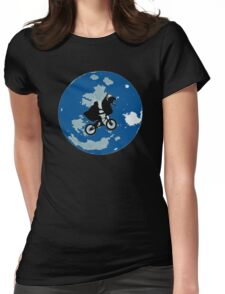movie fan moon space Womens Fitted T-Shirt