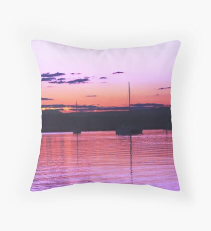 Pretty  Boats Throw Pillow