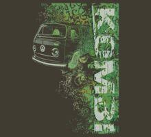 Volkswagen Kombi Tee shirt - Grunge Green by KombiNation