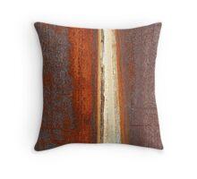Rust Wall 3 Throw Pillow