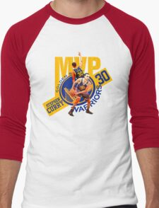 Stephen Curry #30 MVP Men's Baseball ¾ T-Shirt