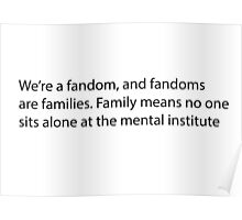Fandom is family  Poster