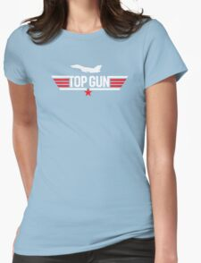 Top Gun Inspired 80's Movie Classic Goose Maverick Womens Fitted T-Shirt