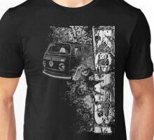 Volkswagen Kombi Tee shirt - Grunge black and white Unisex T-Shirt