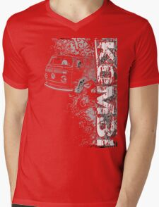 Volkswagen Kombi Tee shirt - Grunge black and white Mens V-Neck T-Shirt