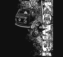 Volkswagen Kombi Tee shirt - Grunge black and white Unisex T-Shirt