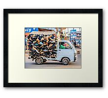 Did somebody say shoes? Framed Print