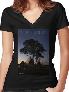 Australian Icons Women's Fitted V-Neck T-Shirt