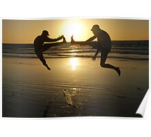 sunset kicks in in Broome Poster