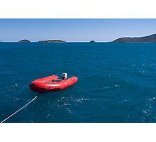 Sailing Along with the Dinghy in Tow Photographic Print