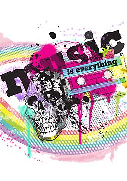 MUSIC is everything [ poster ] by Tiffany Atkin