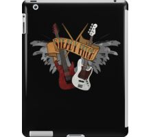 The Music Pitch... Rock'n'Roll and let your guitar, bass and drums rock! (Dark version) iPad Case/Skin