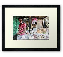 Market stall Framed Print