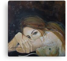 "Unspoken words...""Resentment"" series Canvas Print"