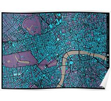 London city map twilight Poster