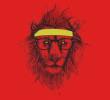 Hipster lion (light background) One Piece - Short Sleeve