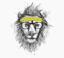 Hipster lion (light background) One Piece - Long Sleeve