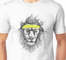 Hipster lion (light background) Unisex T-Shirt