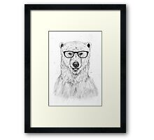 Geek bear Framed Print