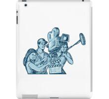 Film Crew Clapperboard Cameraman Soundman Drawing iPad Case/Skin