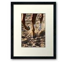Dirt Flys Framed Print