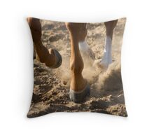 Dirt Flys Throw Pillow
